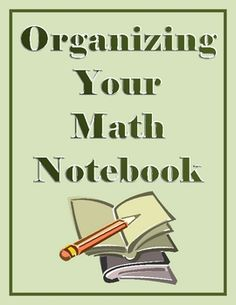 A set of 7 math posters to display in your classroom, reminding students how to organize and maintain their math notebooks....