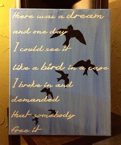There Was A Dream - Avett Brothers Lyrics - 16x20 on Etsy, $42.50