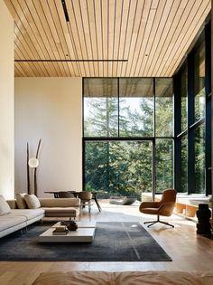 Living Room Windows, New Living Room, Living Room Furniture, Living Room Decor, Wooden Furniture, Luxury Furniture, Furniture Ideas, Kitchen Living, Window Furniture