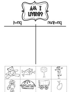 Printables Living And Nonliving Worksheets living and non things worksheets science pinterest sarahs first grade snippets nonliving