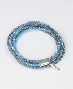 SINGLE STRAND IN BLUE GLACIER/ GREEN GLACIER/ BLUE OPAL