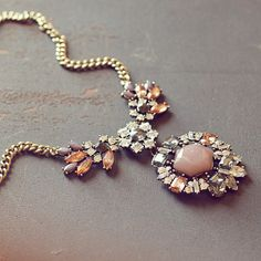 Some necklaces make a statement. This crystal piece makes an announcement.