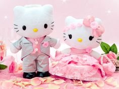 HK |❣| HELLO KITTY and Dear Daniel Wedding Plush Deluxe Doll Set - Sanrio Japan