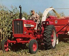 IH Farmall Hydro 656 chopping corn for silage