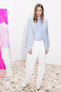 Powder blue and white combo by Stella McCartney - So fresh!