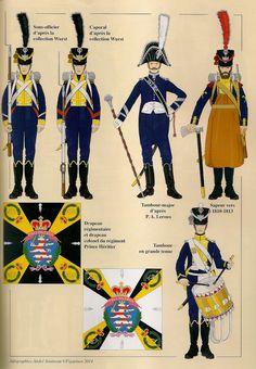 NAP- France: Hesse-Darmstadt; Infantry Regiment Prince Heriter(Erbprinz) 1807-1813, by André Jouineau.