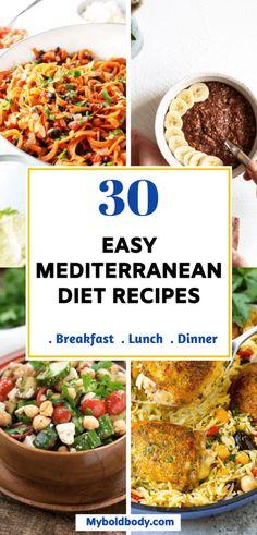 Meditranian Diet, Med Diet, Pcos Diet, Diet Foods, Mediterranean Breakfast, Easy Mediterranean Diet Recipes, Mediterranean Diet Meals, Keto, Healthy Eating Recipes