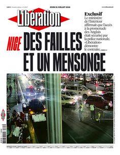 Dans Libé demain : Nice, des failles et un mensonge - Libération