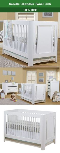 Sorelle Chandler Panel Crib. Add beauty and modern style to your baby's nursery with the gorgeous Sorelle Chandler Panel Crib White. Beautifully designed, this convertible crib is crafted from New Zealand Pine and finished in a classic white which goes with any nursery decor. You'll love its clean lines, smooth, rounded corners, and paneled sides which add a touch of elegance. Its lower height makes it simple for you to reach your baby from any side of the crib. Able to convert to a…