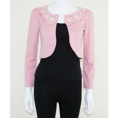 Cute Pink Pearl Embellished Shrug    http://www.trendzystreet.com/new-in/new-shrugs-online/cute-pink-pearl-embellished-shrug-tzs4952