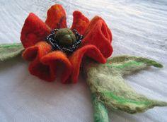 A felt necklace Poppy by Radlana on Etsy