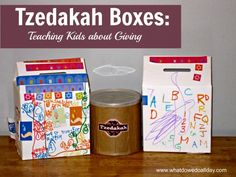 Using tzedakah boxes to teach kids about giving and the importance of daily charity.