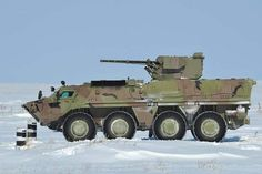 The BTR-4 armored personnel carrier is one of a variety of armored vehicles being upgraded by Ukraine.