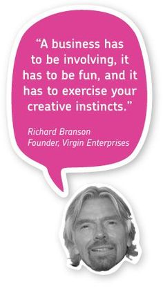 """A business has to be involving, it has to be fun, and it has to exercise your creative instincts."" - Richard Branson #quotes #entrepreneur"