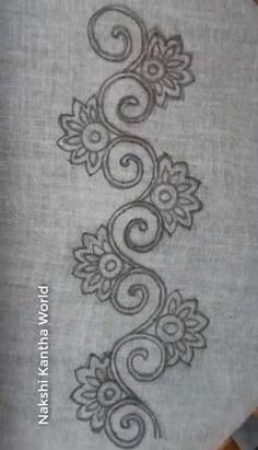 Excellent Free of Charge Embroidery Designs dress Thoughts Riscos Para Bordar Bordar Border Embroidery Designs, Floral Embroidery Patterns, Embroidery Works, Hand Embroidery Stitches, Beaded Embroidery, Machine Embroidery Designs, Zardozi Embroidery, Hand Embroidery Dress, Bordado Popular