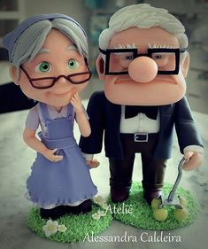 Carl Fredericksen e Ellie em biscuit do desenho UP Altas Aventuras! | Flickr - Photo Sharing!