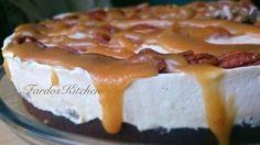 طريقة عمل بلوندي تشيزكيك بالتفاح - Apple and caramel cheesecake recipe