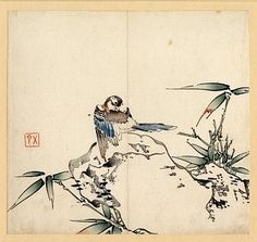 Bird and Bamboo, Ten Bamboo Studio Collection of Calligraphy and Painting, c.1633, China, colour woodblock print on paper, copyright The Trustees of the British Museum