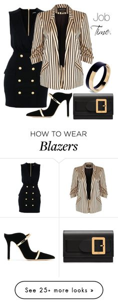"""""""Job Time"""" by rbfashionplace on Polyvore featuring Balmain, River Island, Malone Souliers, Bally and Marni"""