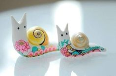 Colorful snails!