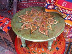 ☮ American Hippie Bohéme Boho Lifestyle ☮ Painted table