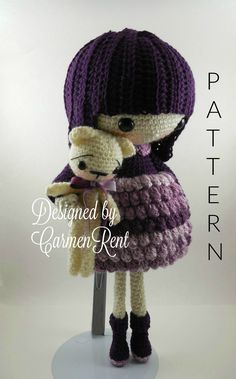ATTENTION - Keep in mind that this is a crochet pattern in a PDF. This is NOT the finished product.  August is approximately 17 inches tall. Also, please keep in mind that this doll cannot stand up on its own.  This is a non-refundable purchase. Once the payment has been confirmed you will be allowed to download the pattern in a PDF. The language in the pattern is in English only. The pattern includes all of the yarn colors I used for the doll, however, you are free to experiment and use…