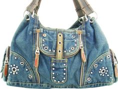 "INSPIRATION: Denim recycled western-style bag {Reciclar un vaquero~~literally, ""recycle a cowboy""!}"