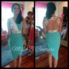 Draped dress by MischB Couture