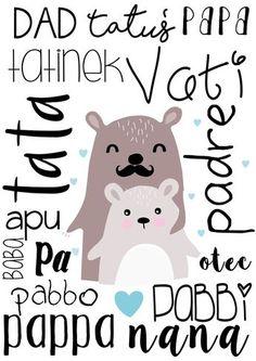 boombom: Plakat na Dzień Ojca Baby Prints, Nursery Prints, Nursery Art, Baby Posters, Kids Inspire, Kids Canvas, Art Wall Kids, Whimsical Art, Cartoon Kids