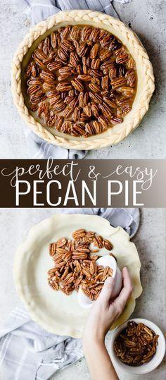 Homemade Pecan Pie | pecan pie recipe | easy pie recipes | recipes using fresh pecans | thanksgiving pie recipes | thanksgiving dessert recipes | how to make pecan pie || Oh So Deliciosp #pecanpie #pierecipe #thanksgiving #thanksgivingpie