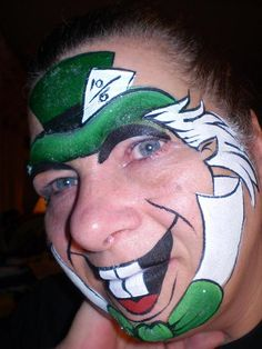 Mad Hatter face painting design