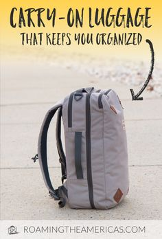 Looking for a compact travel backpack with an organized design that can be used as carry-on luggage? The Nazca 24L Travel Pack from Cotopaxi is a great option for short trips when you want to pack minimally! It has a felxible suitcase-style design with zippered compartments to help you stay organized while traveling. Check out this travel backpack review for all the features, pros, and cons of this small travel backpack that's perfect for weekend trips.