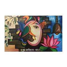 Lord Ganesha is an epitome of wisdom and adaptability, encouraging one to think more and talk less. Going right on the path of his teachings. Our Artists have come up with three astonishing Canvas Arts of Lord Ganesha Namah Painting. Poster Color Painting, Mural Painting, Mural Art, Oil Painting Abstract, Watercolor Painting, Lord Ganesha Paintings, Lord Shiva Painting, Ganesha Art, Ganesha Rangoli
