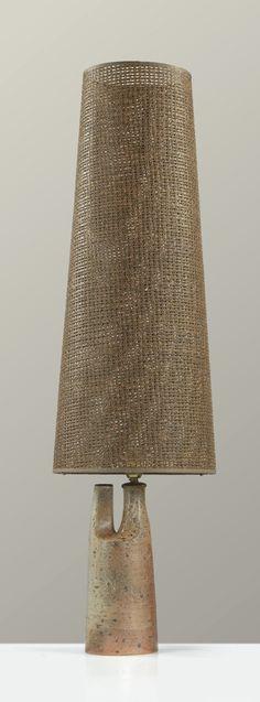 Elisabeth Joulia; Glazed Ceramic Table Lamp, 1960s.