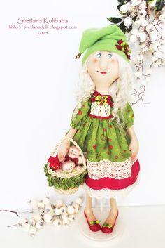 куклы на Рождество, готовимся к Рождеству, текстильные куклы, новогодний декор, феи, рождественские феи, текстильные куклы в Украине, Кулибаба Светлана