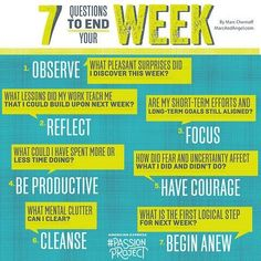 7 ?s to end your week. How to be reflective and proactive in your teaching.