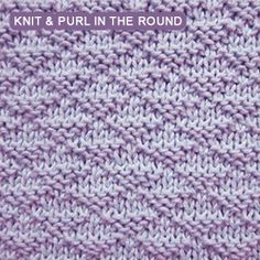 [Knit and Purl in the round] Little Pyramids stitch. It knits up quickly