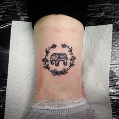Fresh from the Web Mini elephant tattoo - HAND POKE TATTOO, NO MACHINE by Sarah…