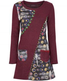"""""""Joe Browns"""" Joe Browns Stand Out Sweater Brilliant autumnal shades with lovely touches like the quirky dragonfly print and chunky, bright stitching Polyester, Acrylic, Polyamide at Simply Be Batik Fashion, Diy Fashion, Ideias Fashion, Blouse Batik, Batik Dress, Sewing Clothes, Diy Clothes, Clothes For Women, Mode Batik"""