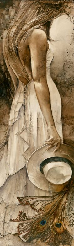 """Buy """"Conquest of Paradise""""    Giclee print - Open Edition, an Ink Printmaking on Canvas, by Lidia Wylangowska from United States, For sale, Price is $610, Size is 80 x 24 x 1.5 in."""