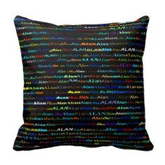 Alan Text Design I Throw Pillow