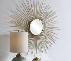 Horchow Sunray Starburst Mirror Gold MID CENTURY MODERN Gold XL   eBay