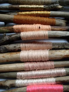 Yarn around sticks