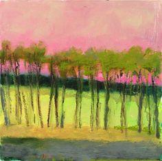 Wolf Kahn, Gray Foreground 2013, Oil on canvas