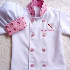 Kids Chef Costume, School Pinafore, Kids Dress Up, Corporate Identity Design, Sewing Aprons, Sewing Patterns For Kids, Jacket Pattern, Chef Jackets, Girl Outfits