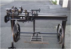 Antique Treadle Lathe