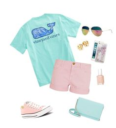 """""""Untitled #35"""" by haleyrharris on Polyvore featuring Current/Elliott, Converse, Lilly Pulitzer, Tory Burch, Skinnydip, Kate Spade and Essie"""