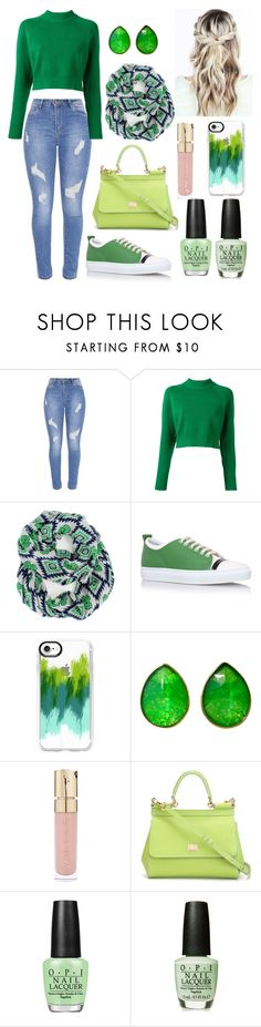 """""""Untitled #95"""" by pipersullivan ❤ liked on Polyvore featuring DKNY, Lanvin, Casetify, Jona, Smith & Cult, Dolce&Gabbana and OPI"""