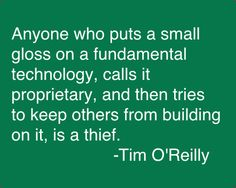 Tim O'Reilly (born June 6, 1954) is the founder of O'Reilly Media (formerly O'Reilly & Associates) and a supporter of the free software and open sourcemovements