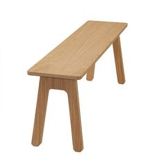 This simple bench was designed for the hallway and dining room, or as we like to use it - at the end of a double bed.